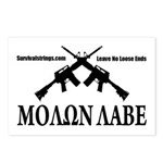 Survival Strings Molon Labe Postcards (Package of