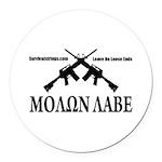 Survival Strings Molon Labe Round Car Magnet