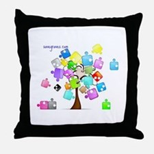 Family Tree Jigsaw Throw Pillow