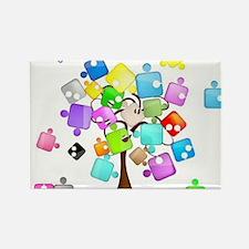 Family Tree Jigsaw Rectangle Magnet