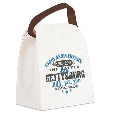 150 Gettysburg Civil War Canvas Lunch Bag
