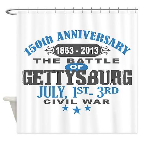 150 Gettysburg Civil War Shower Curtain