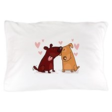 Love Dogs Pillow Case