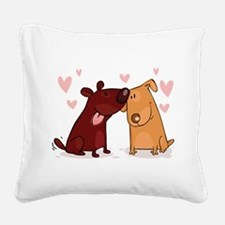 Love Dogs Square Canvas Pillow