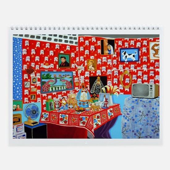 Wall Calendar interior rooms