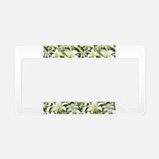 Lily White License Plate Holder