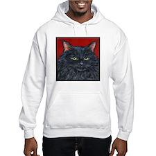 Cat Black Long Hair Hoodie