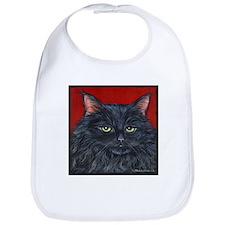 Cat Black Long Hair Bib