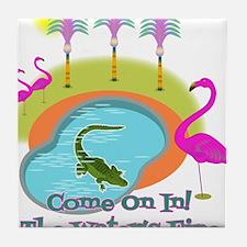 Gator In The Pool! Tile Coaster