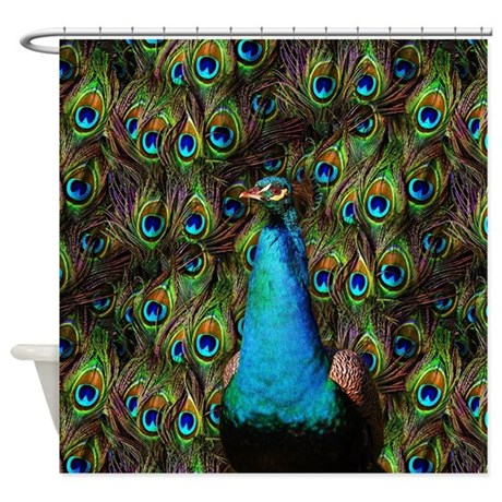 Peacock Watch Shower Curtain By Phantasmdesigns