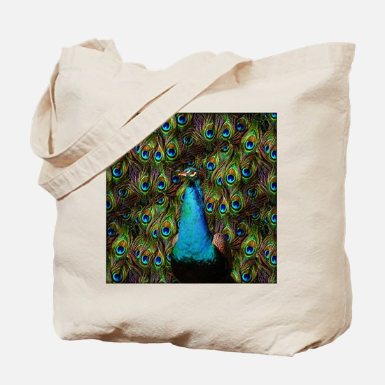 Peacock Watch! Tote Bag