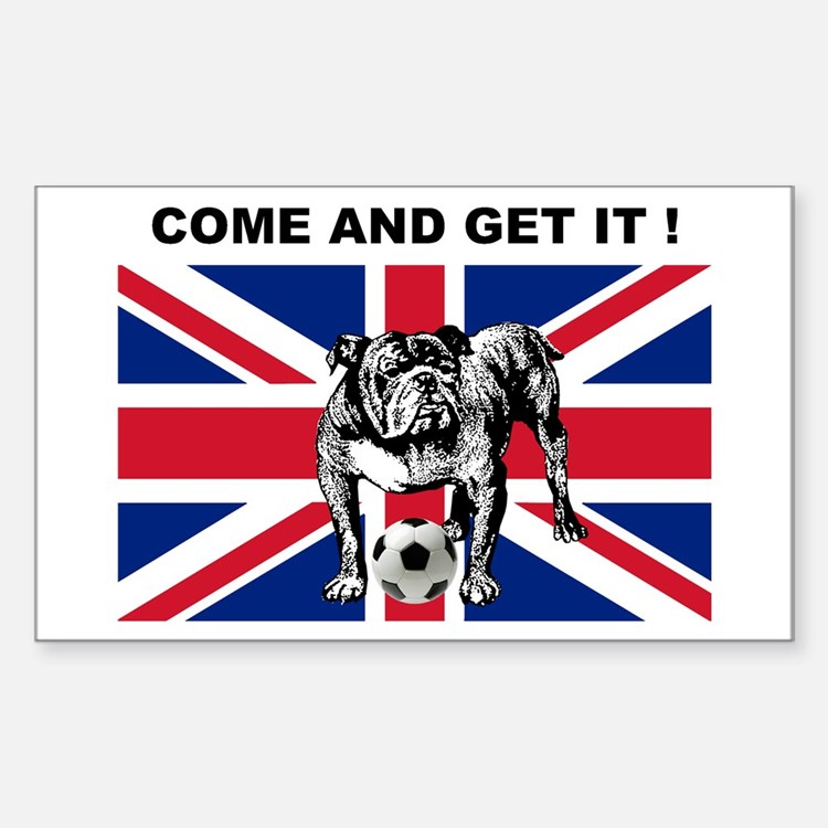 British Football Bulldog Decal