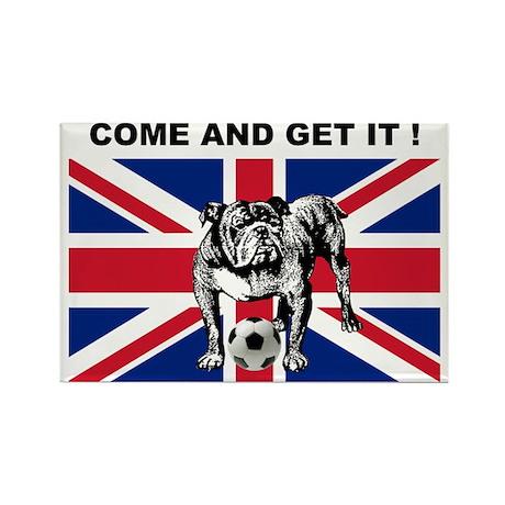 British Football Bulldog Rectangle Magnet