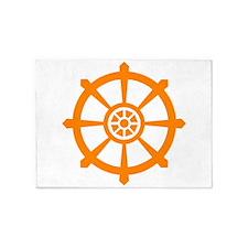 Buddhist Wheel of Life 5'x7'Area Rug