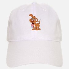 Cartoon Panting Dog Baseball Baseball Baseball Cap