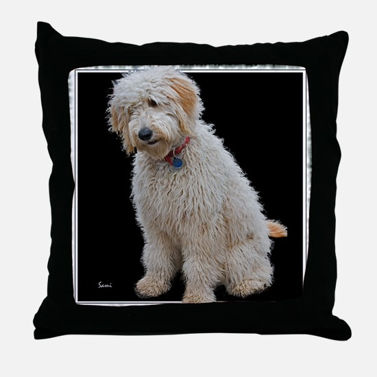 Goldendoodle: Wallace Throw Pillow