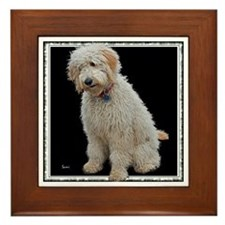 Goldendoodle: Wallace Framed Tile