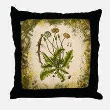 Vintage Dandelion Throw Pillow
