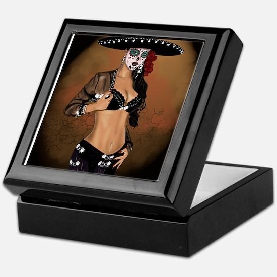 Mariachi Pin-up Art Keepsake Box