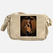Mariachi Pin-up Art Messenger Bag