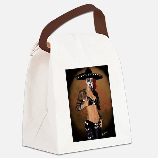 Mariachi Pin-up Art Canvas Lunch Bag