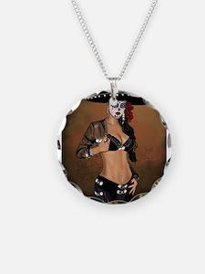 Mariachi Pin-up Art Necklace