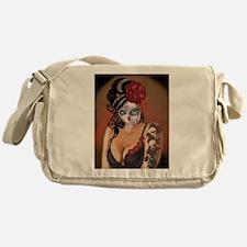 Skulls and Roses Muertos Messenger Bag