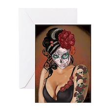 Skulls and Roses Muertos Greeting Card