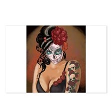 Skulls and Roses Muertos Postcards (Package of 8)
