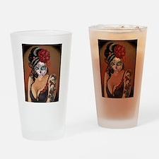 Skulls and Roses Muertos Drinking Glass