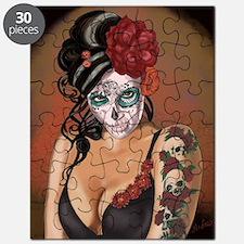 Skulls and Roses Muertos Puzzle