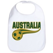 Soccer ball with the word Australia Bib
