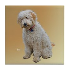 Goldendoodle: Wallace Tile Coaster