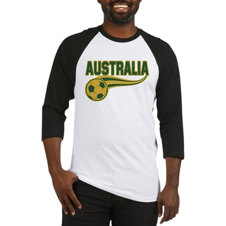 Soccer ball with the word Australia Baseball Jerse
