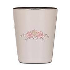 Chrysanthemums Shot Glass