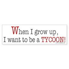 ... a tycoon Bumper Car Sticker