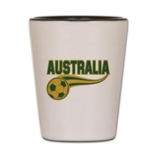 Soccer ball with the word Australia Shot Glass