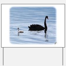 Black Swan and Cygnet 9Y885D-006 Yard Sign
