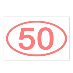 Number 50 Oval Postcards (Package of 8)