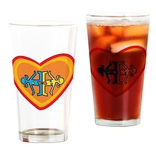 Girls heart Drinking Glass