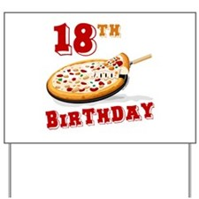 18th Birthday Pizza Party Yard Sign