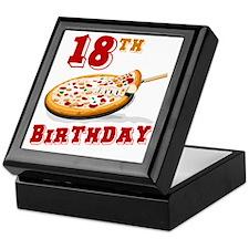 18th Birthday Pizza Party Keepsake Box