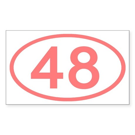 Number 48 Oval Rectangle Sticker