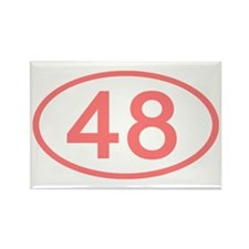 Number 48 Oval Rectangle Magnet