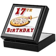 17th Birthday Pizza Party Keepsake Box