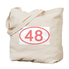 Number 48 Oval Tote Bag