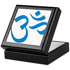 Om Symbol Blue Keepsake Box
