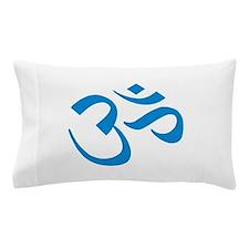 Om Symbol Blue Pillow Case