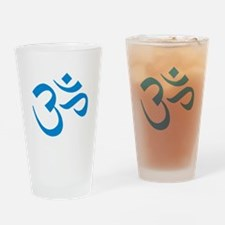 Om Symbol Blue Drinking Glass