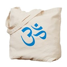 Om Symbol Blue Tote Bag